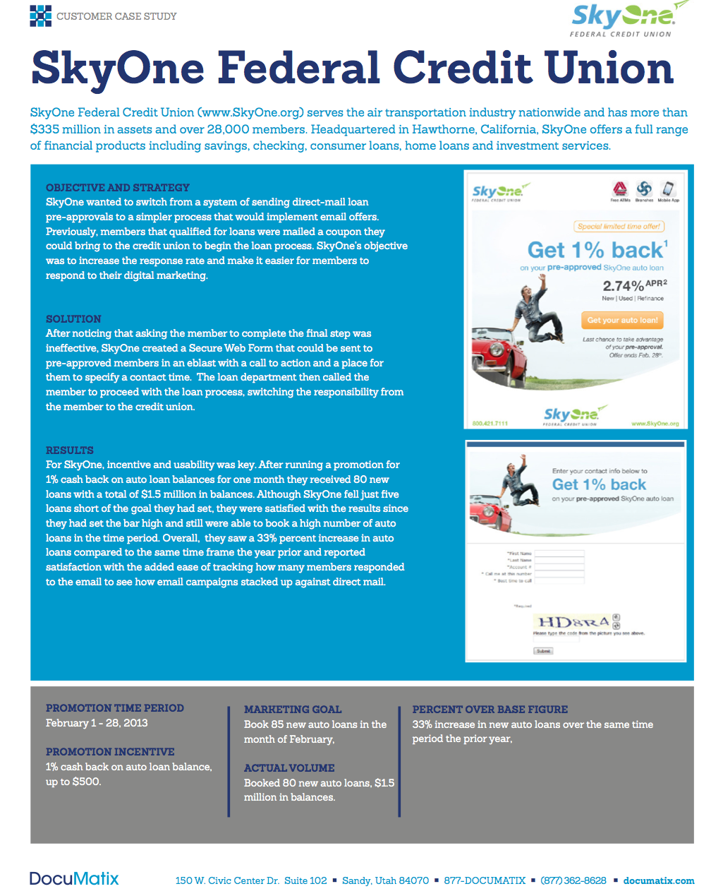 Case Study: Using Web Forms for Pre-Approval Campaigns