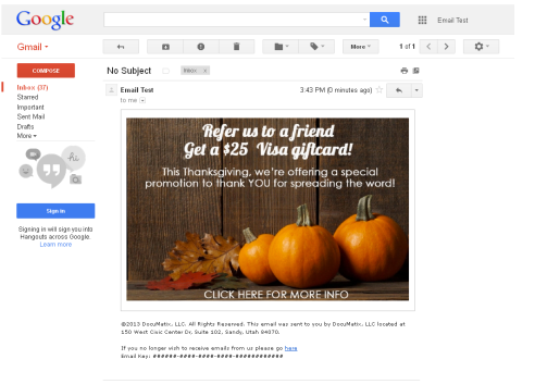 To boost results for your Refer a Friend  campaign, send an email that leads to the page where members can refer their friends.