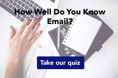 email quiz copy